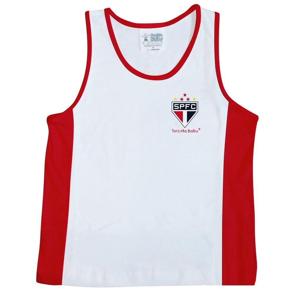 Camiseta Regata Malha Infantil do São Paulo - 210