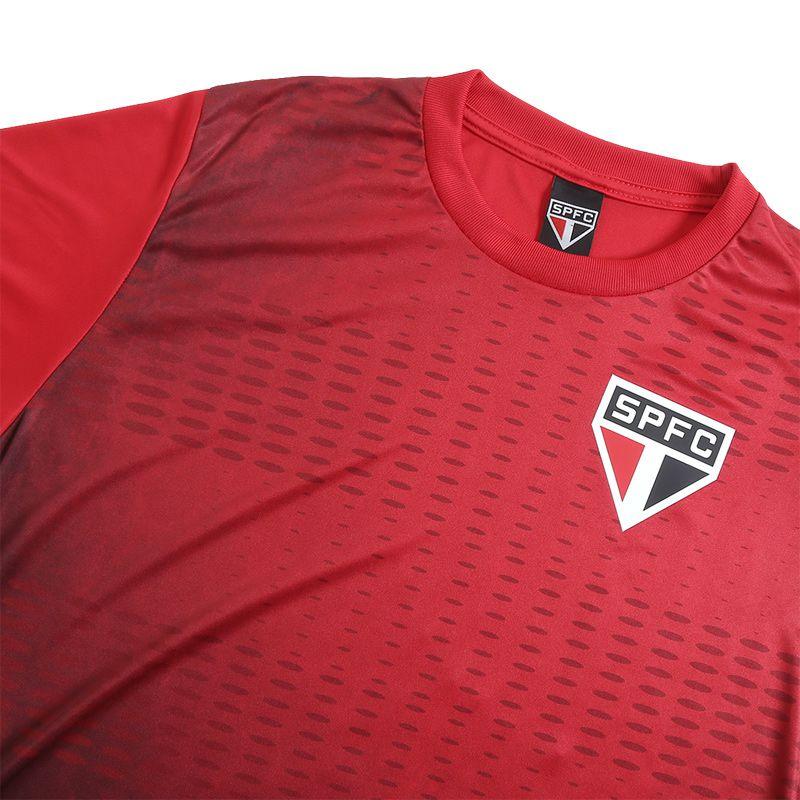 Camiseta São Paulo Bleed Color Vermelha - SP010