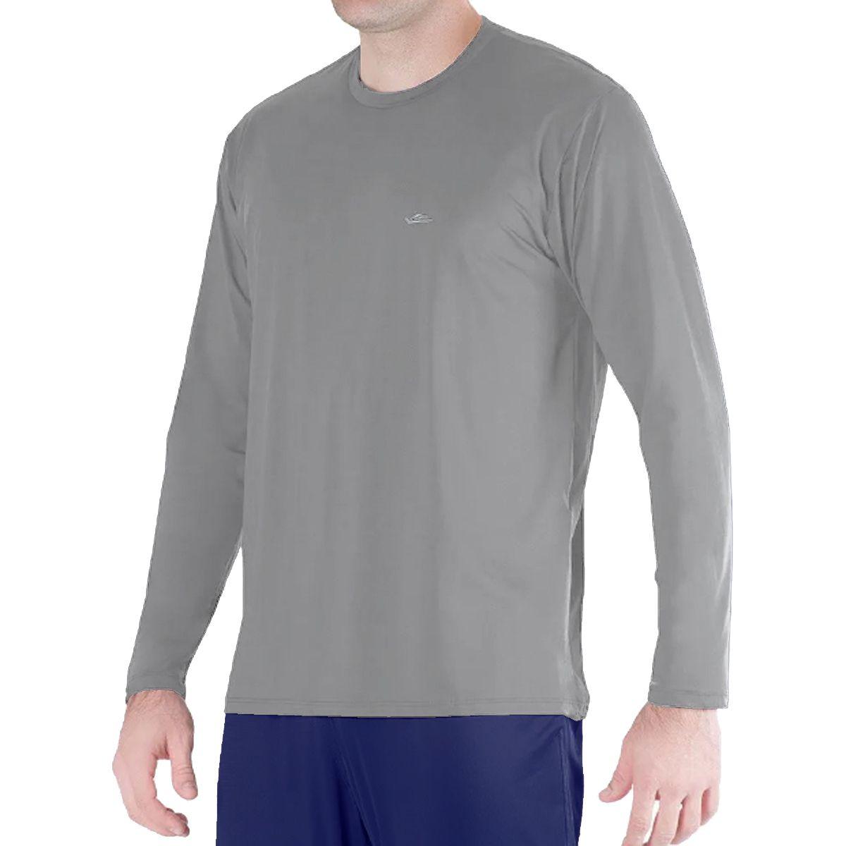 Camiseta Térmica Elite Cinza UPF 50+