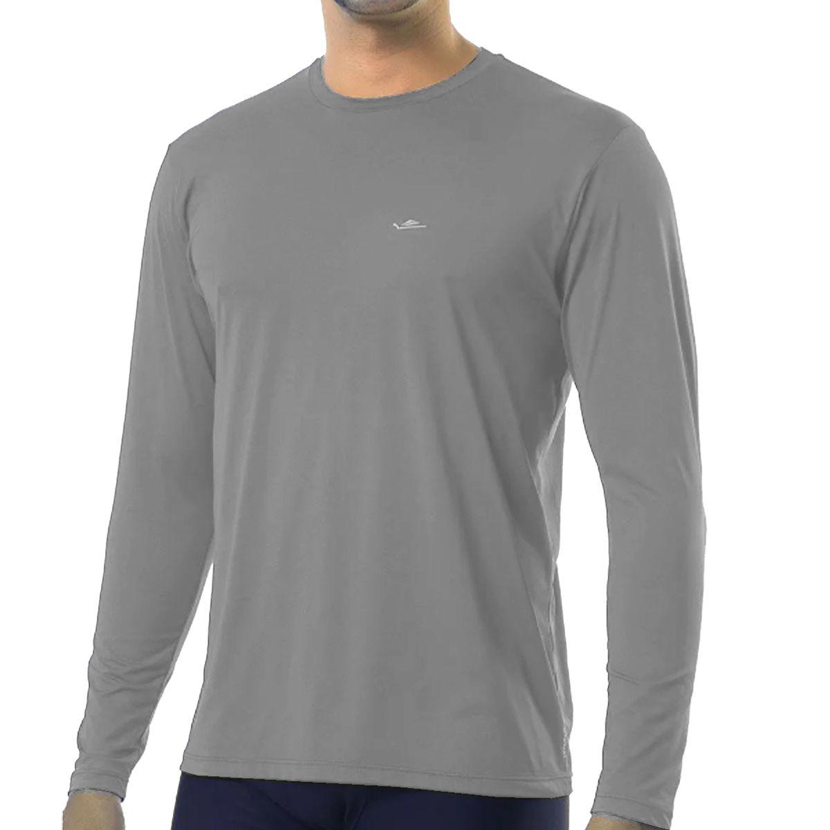 Camiseta Térmica Elite Cinza UPF 50+ Tamanho Especial