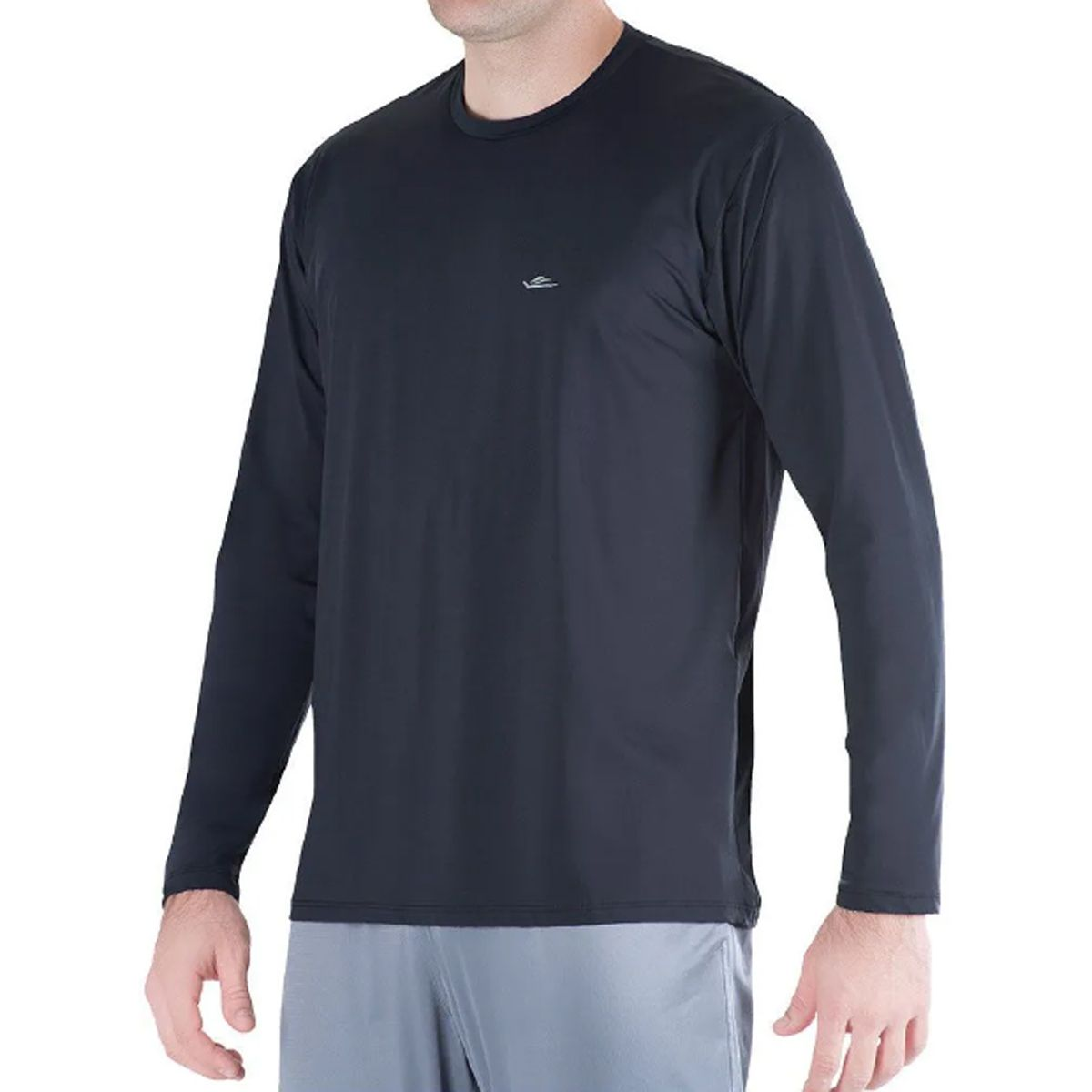 Camiseta Térmica Elite Preta UPF 50+ Tamanho Especial