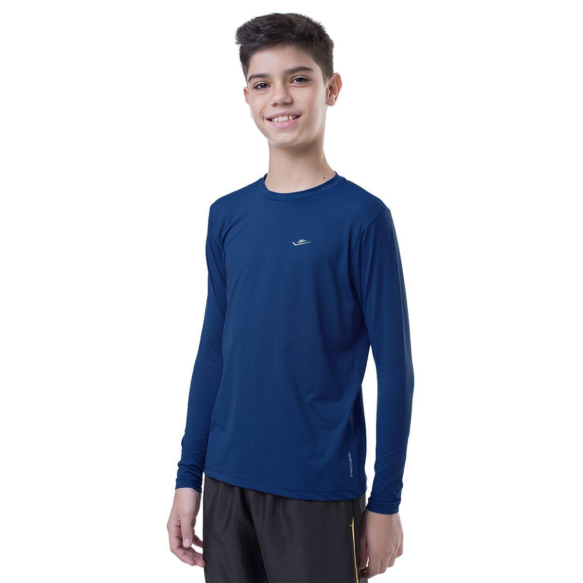 Camiseta Térmica Infantil Marinho Elite UPF 50+