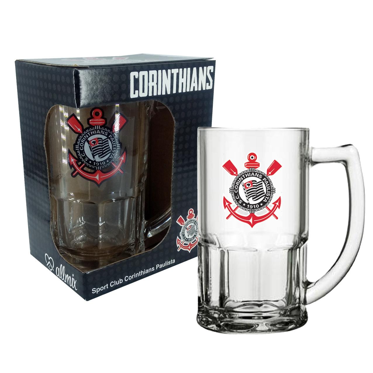 Caneca de Vidro do Corinthians 340 ml