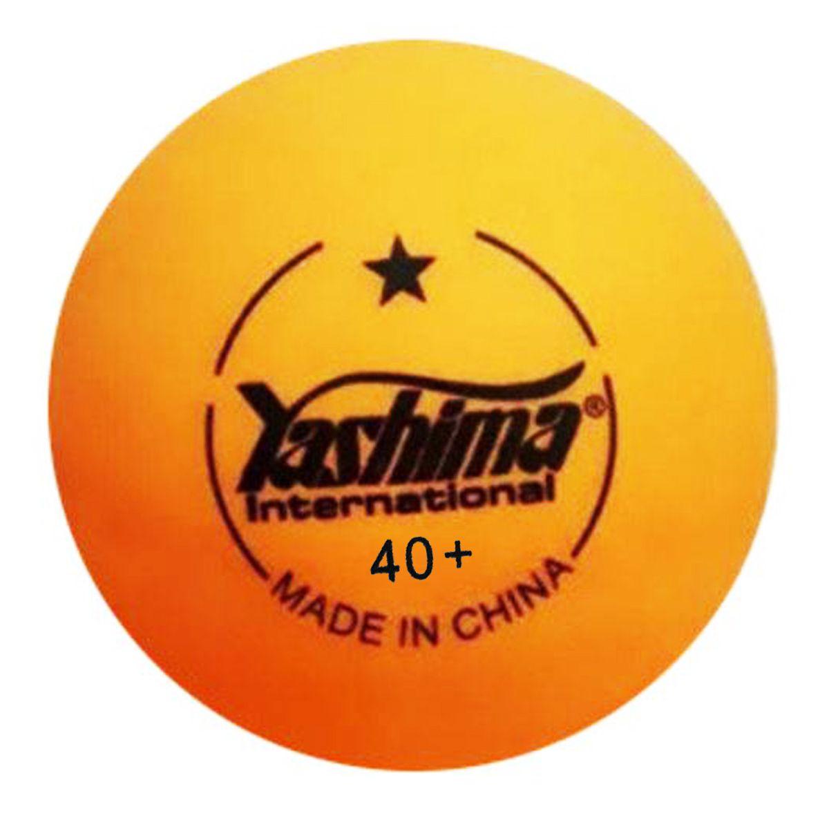Cartela c/6 Bolas de Tênis de Mesa Yashima 40 mm - 1 Estrela