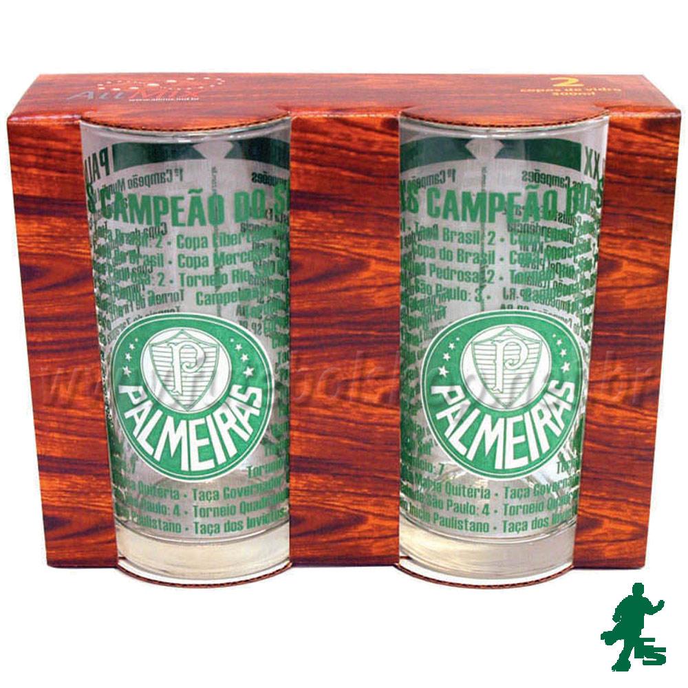 Conjunto 2 Copos Long Drink Palmeiras