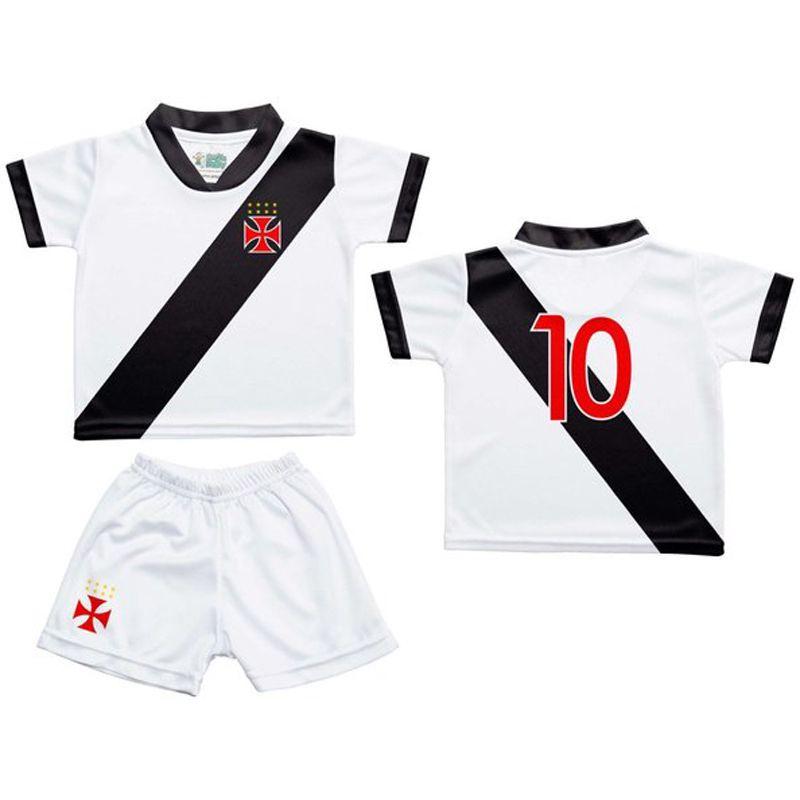 Conjunto Unifome para Bebê do Vasco da Gama Branco - 031S