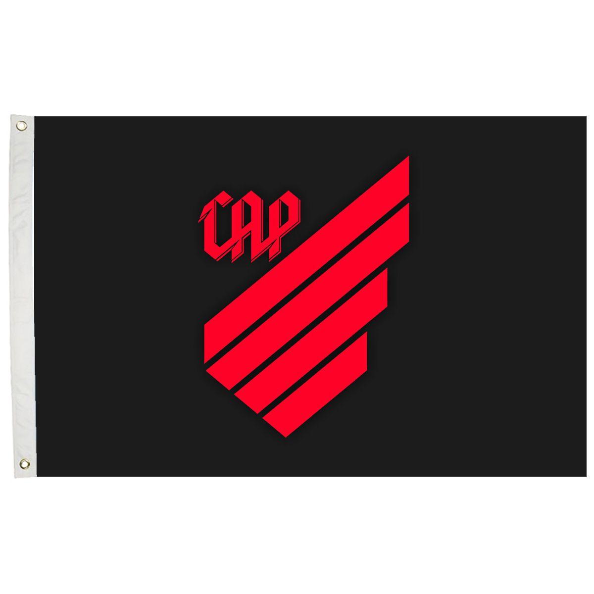Bandeira Oficial do Athletico Paranaense Preta 128 x 90 cm -  2 Panos
