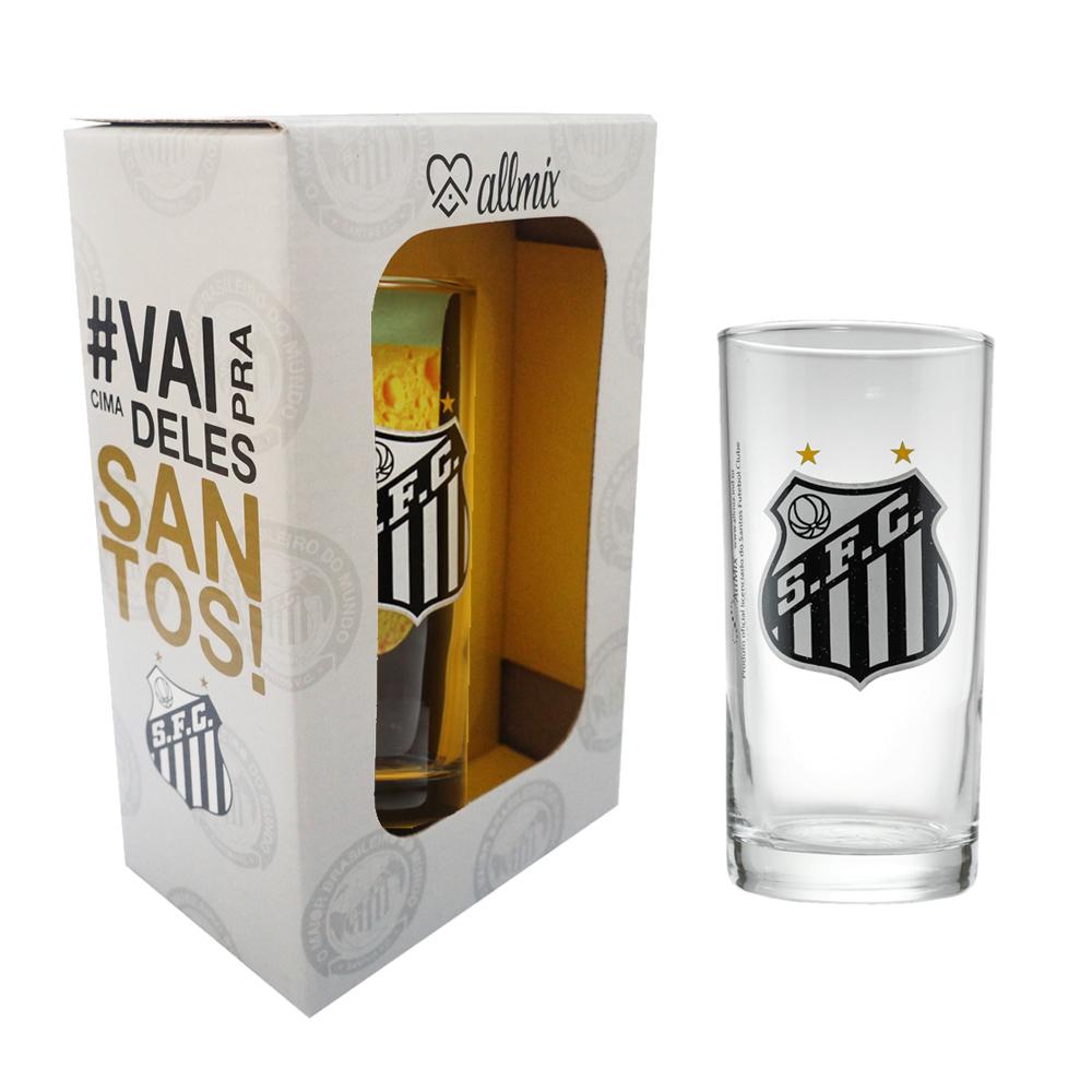 Copo Long Drink do Santos 300 ml em Caixa Personalizada