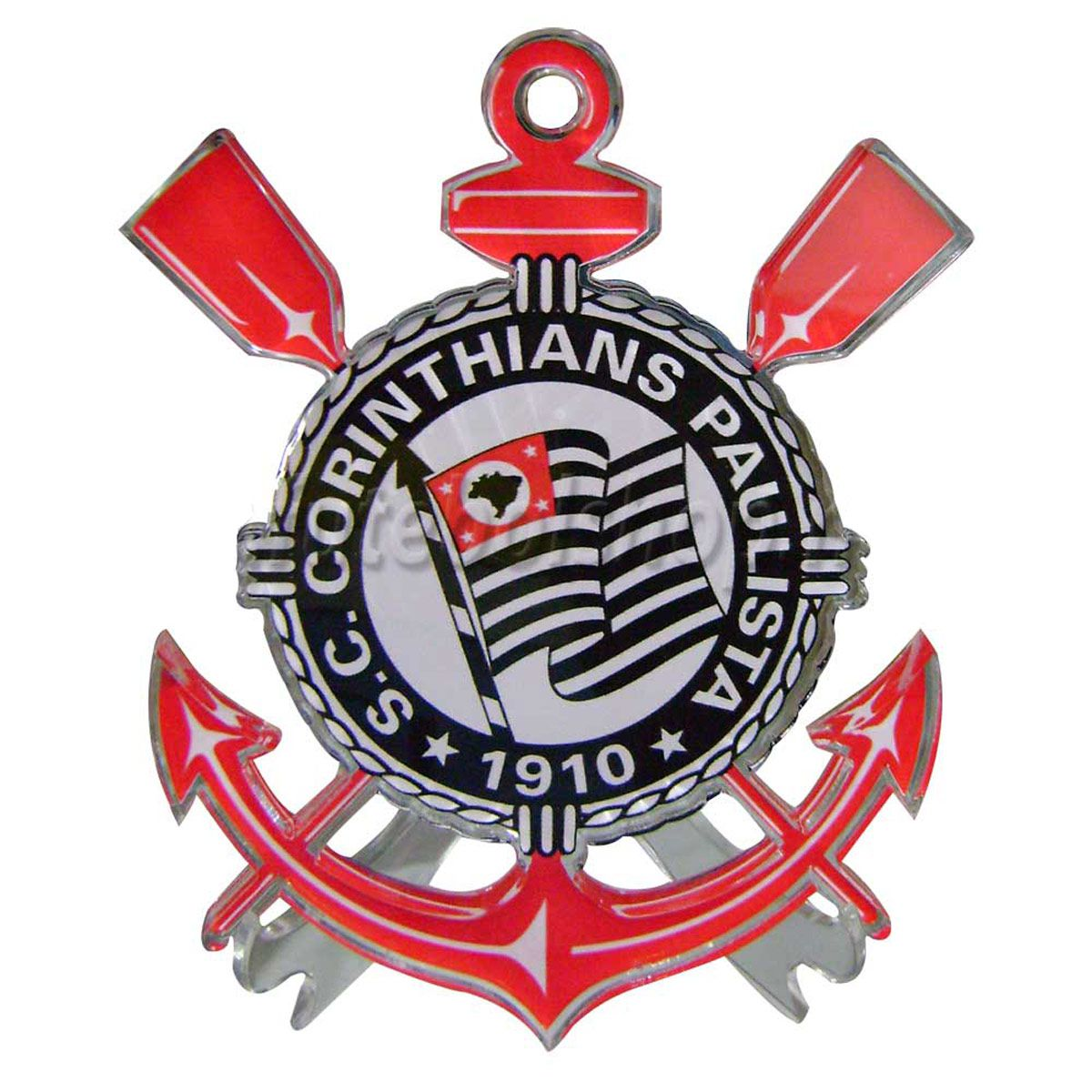 Escudo Brasão do Corinthians em Acrilico 15 cm