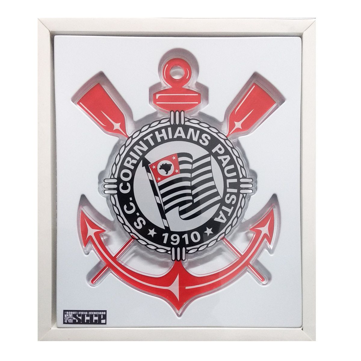Escudo Brasão do Corinthians em Acrilico 30 cm