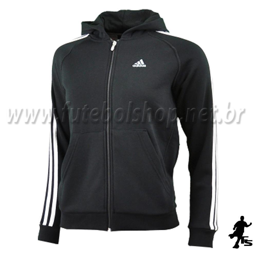 Jaqueta Adidas Capuz 3S ESS Kids Moletom - E15299 - FUTEBOL SHOP ... 7b0758b122043