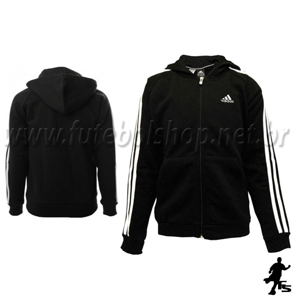 ... Jaqueta Adidas Capuz 3S ESS Kids Moletom - E15299 - FUTEBOL SHOP 81c3ccb72d4b7