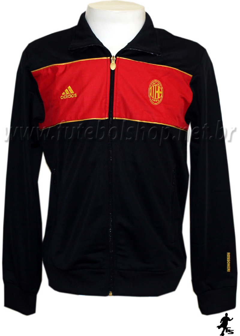 Jaqueta Adidas do AC Milan - P44635 - FUTEBOL SHOP ... 94f92cd438ecc