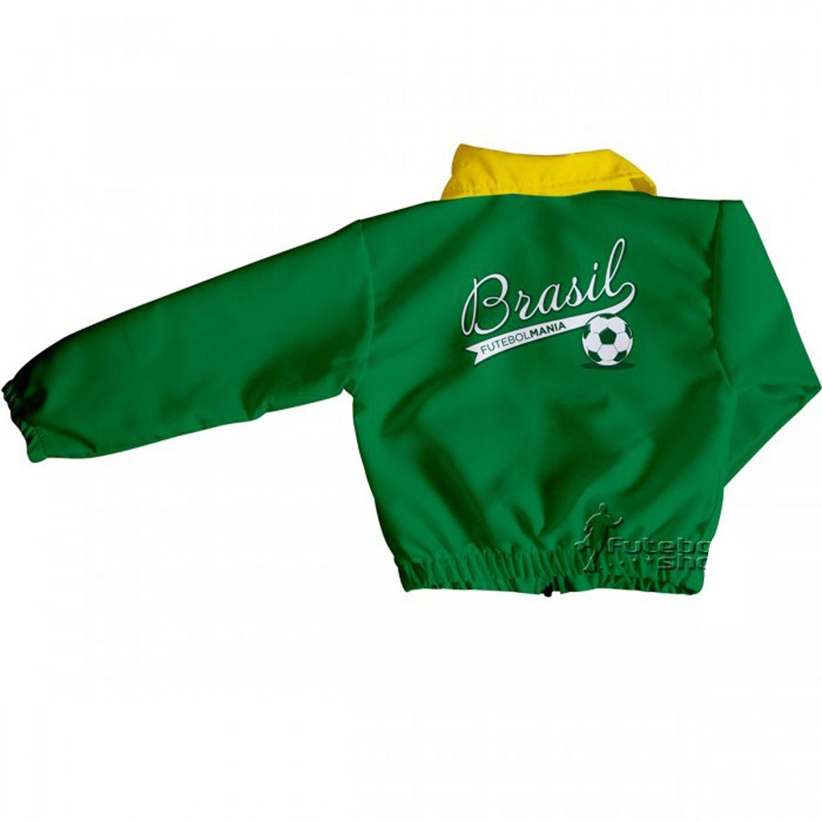 Jaqueta Infantil do Brasil Futebol Mania - 256A