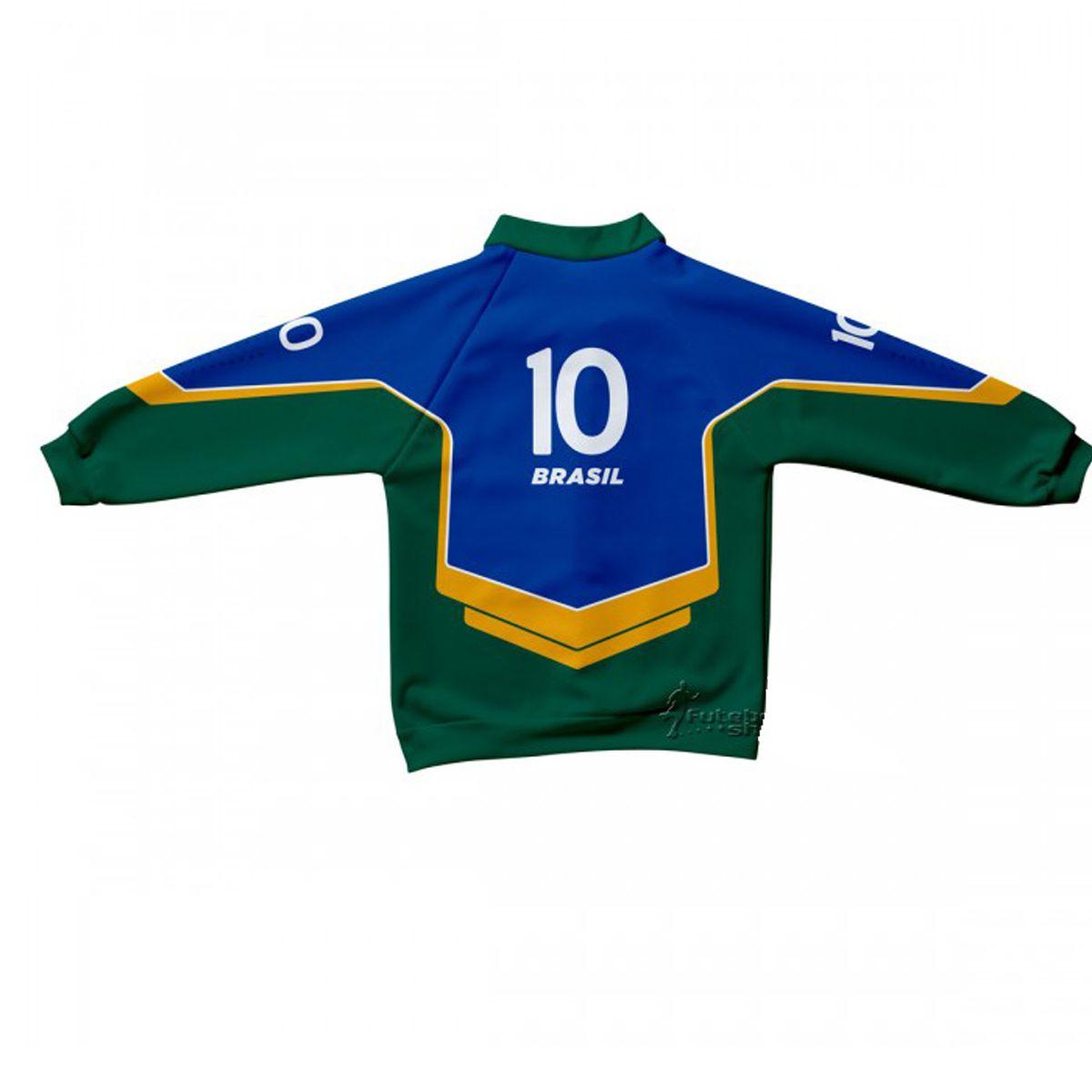 Jaqueta Infantil do Brasil Malha Esportiva Estilo - 224S