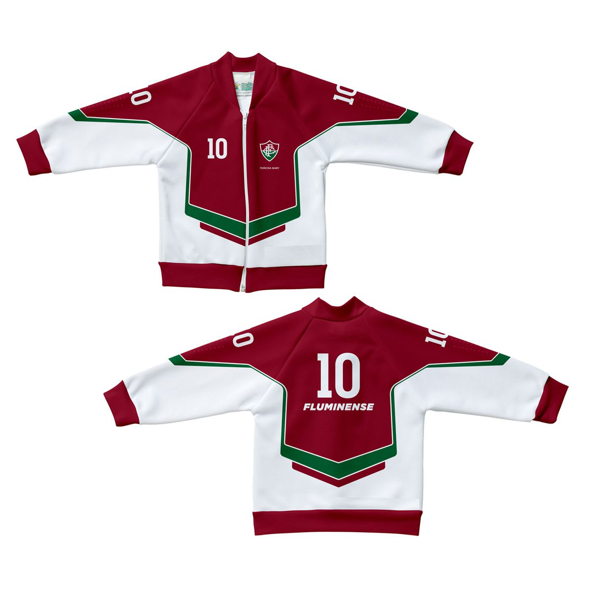 Jaqueta Infantil do Fluminense Malha Esportiva Estilo - 224S