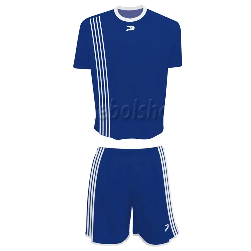 Jogo de Camisa Uniforme Placar -  Azul e Branco - 19 Conjuntos