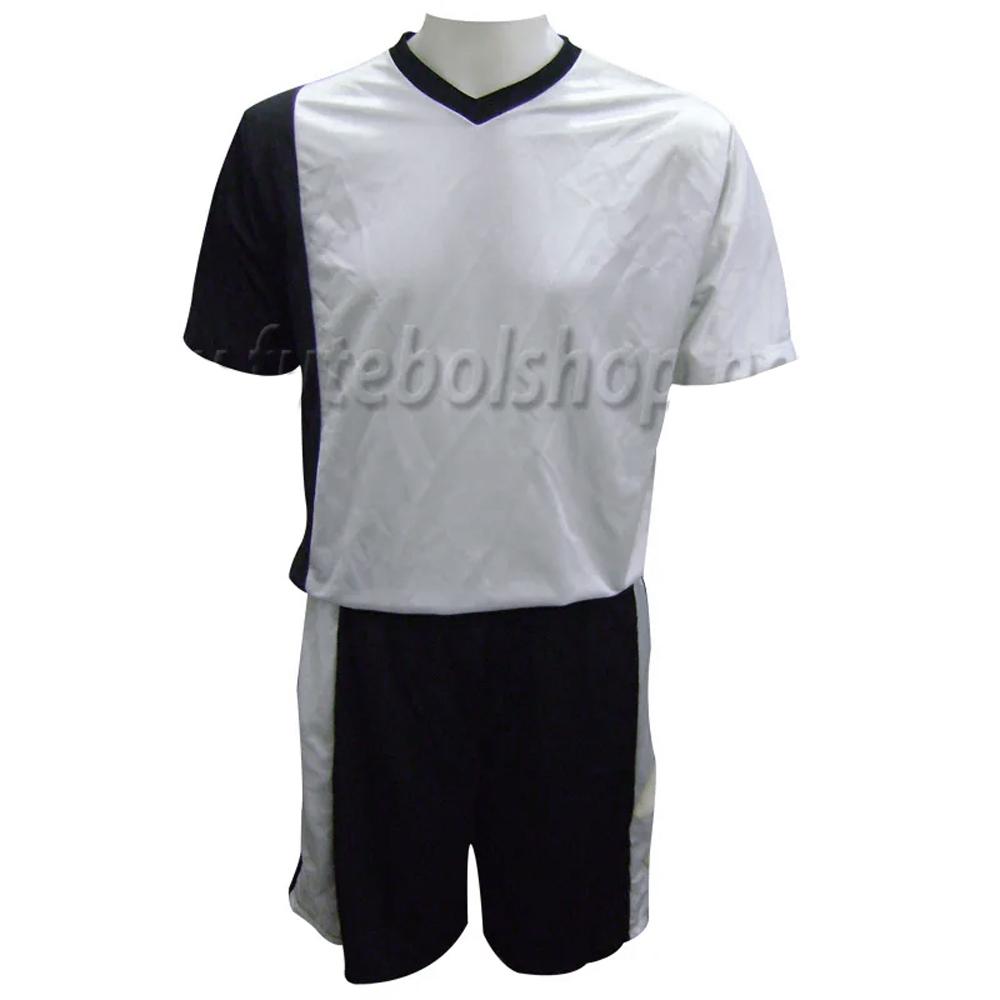 Jogo de Camisa Uniforme Rhama - Preto e Prata - 6 Conjuntos + Goleiros
