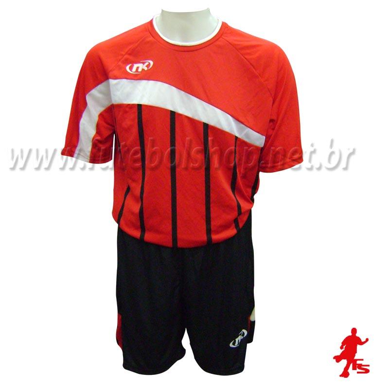 Jogo de Camisa Uniforme Nakal -  Vermelho - 6 Conjuntos