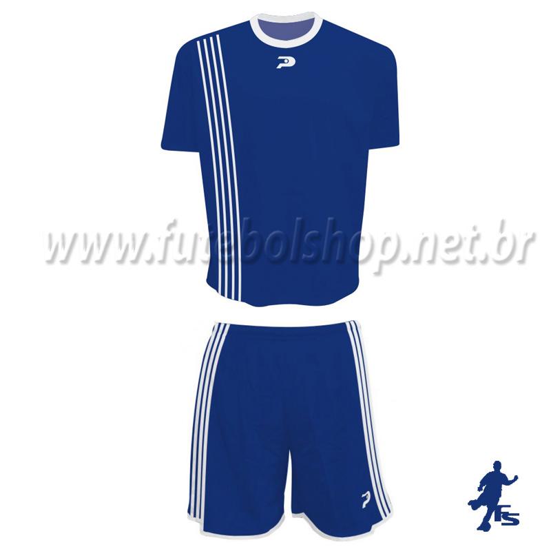 71cf255d07 Jogo de Camisa Uniforme Placar - Azul e Branco - 19 Conjuntos - FUTEBOL SHOP