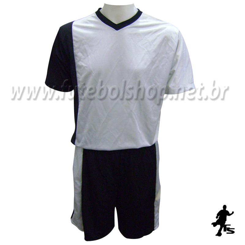 ace0bed14e Jogo de Camisa Uniforme Rhama - Preto e Prata - 6 Conjuntos + Goleiros -  FUTEBOL ...