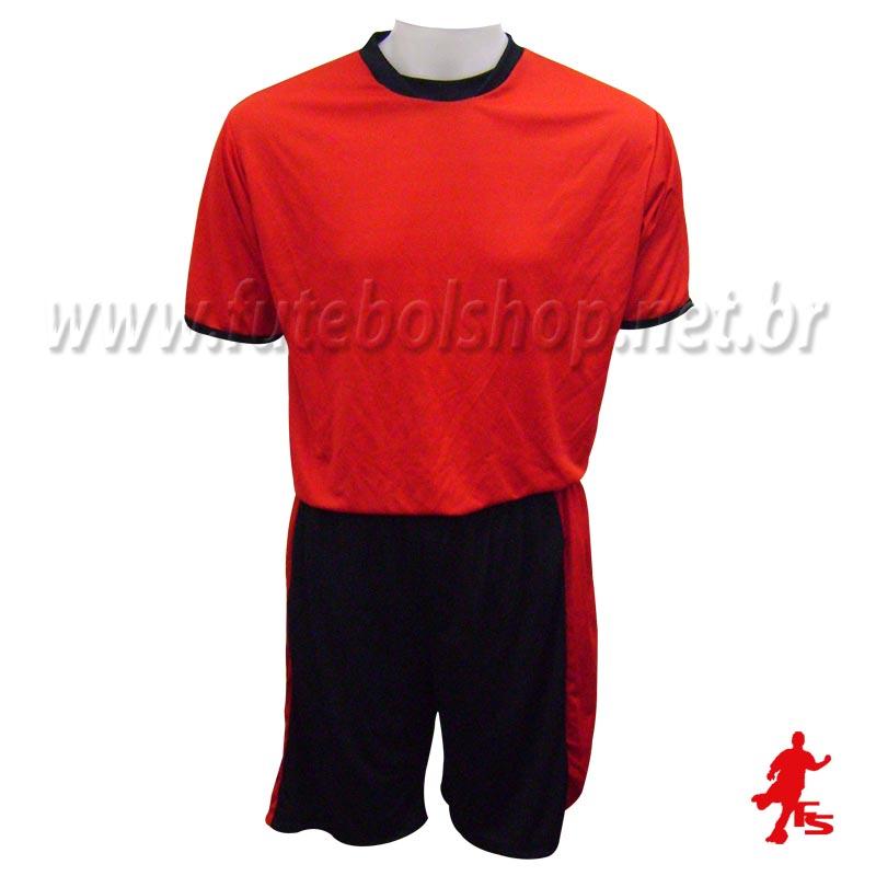9a04b9c693a75 Jogo de Camisa Uniforme Rhama - Vermelho e Preto - 8 Conjuntos + Goleiros -  FUTEBOL ...