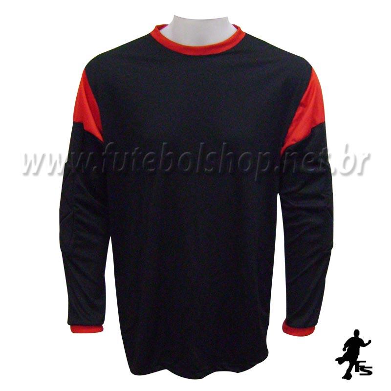 ... Jogo de Camisa Uniforme Rhama - Vermelho e Preto - 8 Conjuntos +  Goleiros - FUTEBOL 6d2f27ec438bb