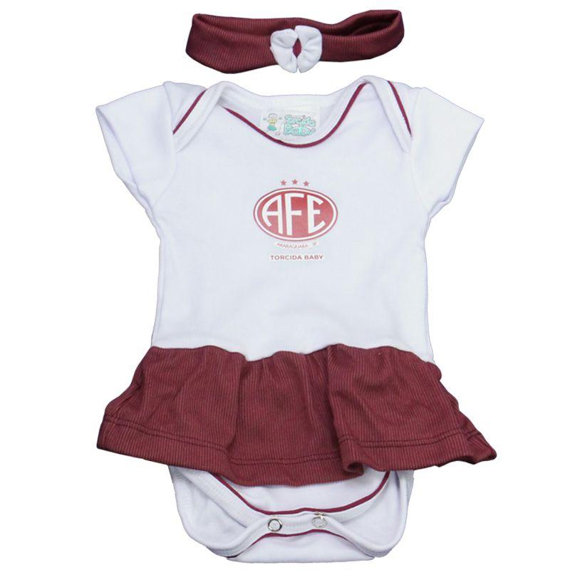 Kit 3 Peças para Menina da Ferroviária Torcida Baby - 033B