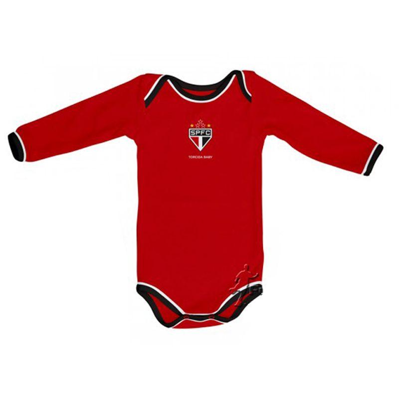 Kit 3 Peças Uniforme Bebê do São Paulo Torcida Baby Body - 034A