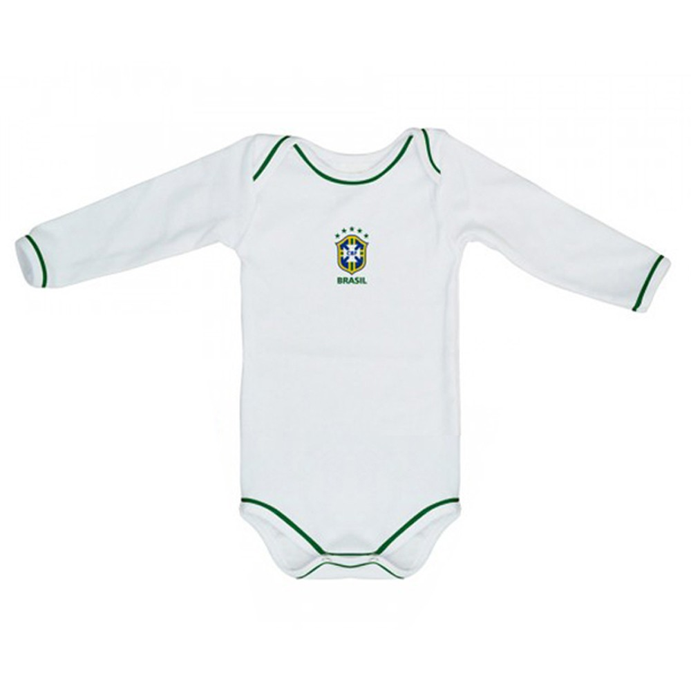 Kit 3 Peças Uniforme Bebê do Brasil Longo Torcida Baby - 034