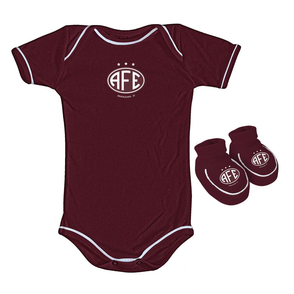 Kit Body + Pantufa para Bebê da Ferroviária 033a
