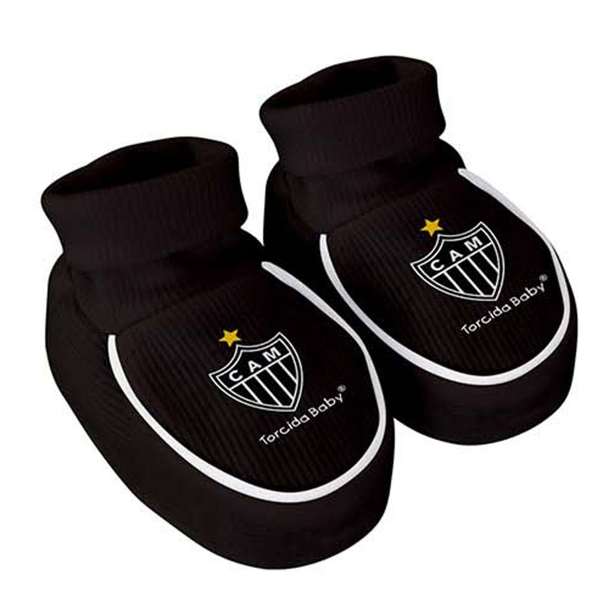 Kit Body + Pantufa para Bebê do Atlético Mineiro