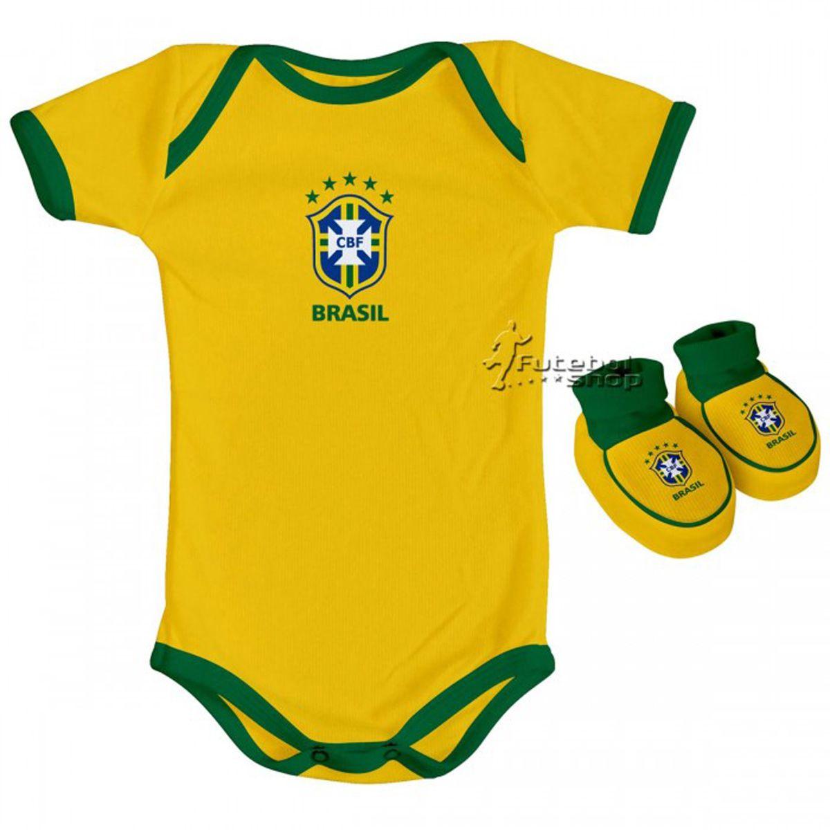 Kit Body + Pantufa para Bebê do Brasil 033a