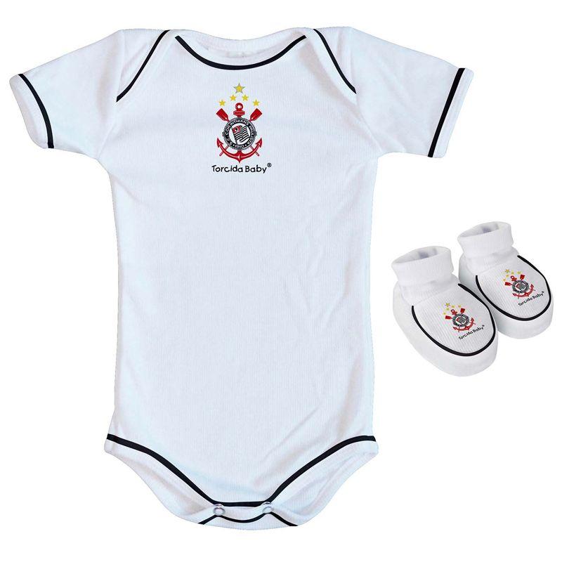 Kit Body + Pantufa para Bebê do Corinthians Torcida Baby - 033 - FUTEBOL  SHOP ... 20ddcd321fceb