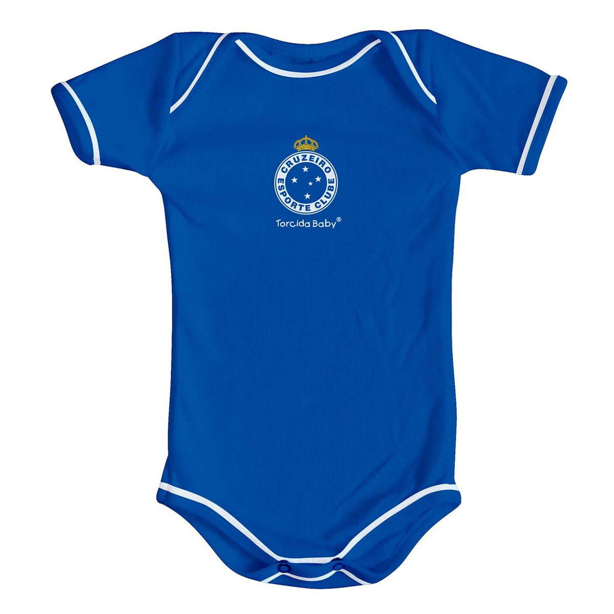 Kit Body + Pantufa para Bebê do Cruzeiro