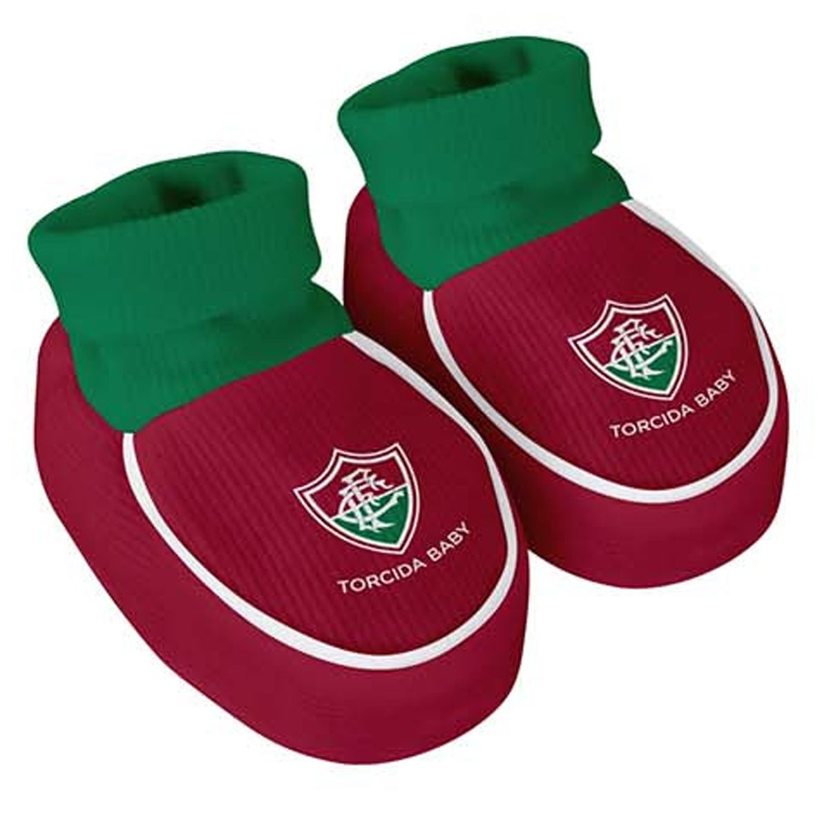 Kit Body + Pantufa para Bebê do Fluminense 033a