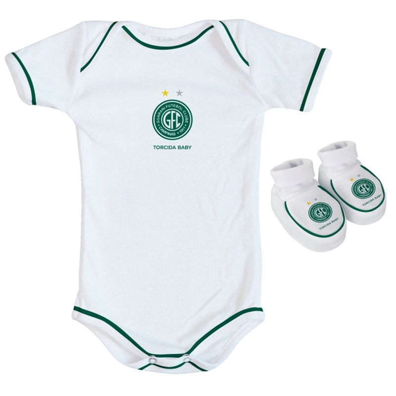 5c408b4f6d Kit Body + Pantufa para Bebê do Guarani FC Torcida Baby - 033 - FUTEBOL  SHOP ...