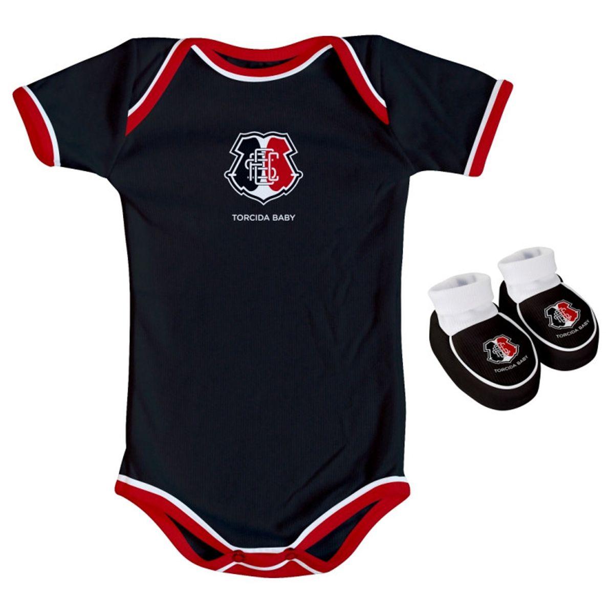 Kit Body + Pantufa para Bebê do Santa Cruz