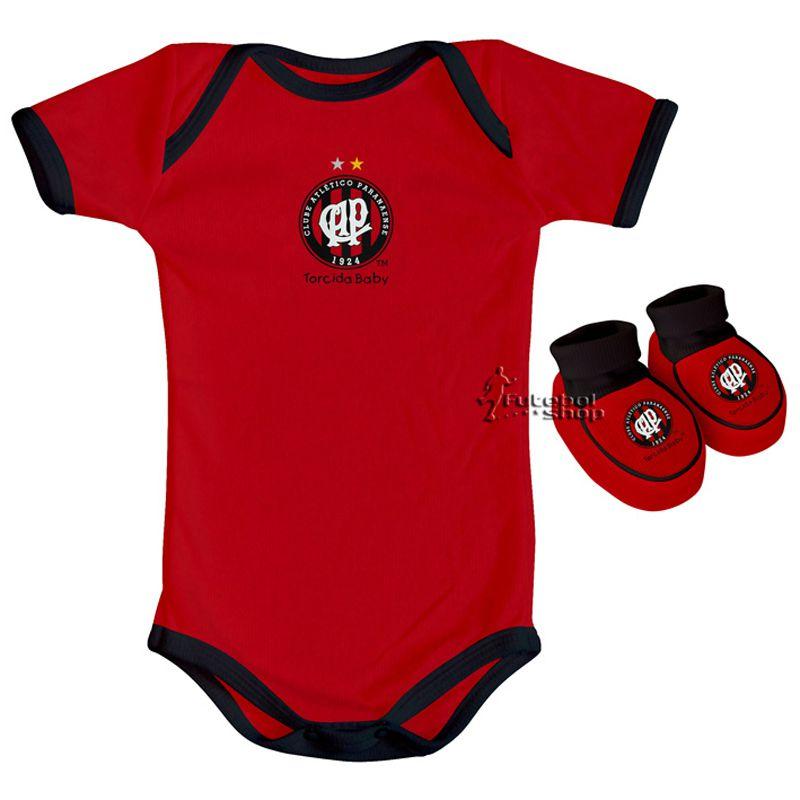 Kit Body + Pantufa Bebê Recém Nascido do Atlético Paranaense