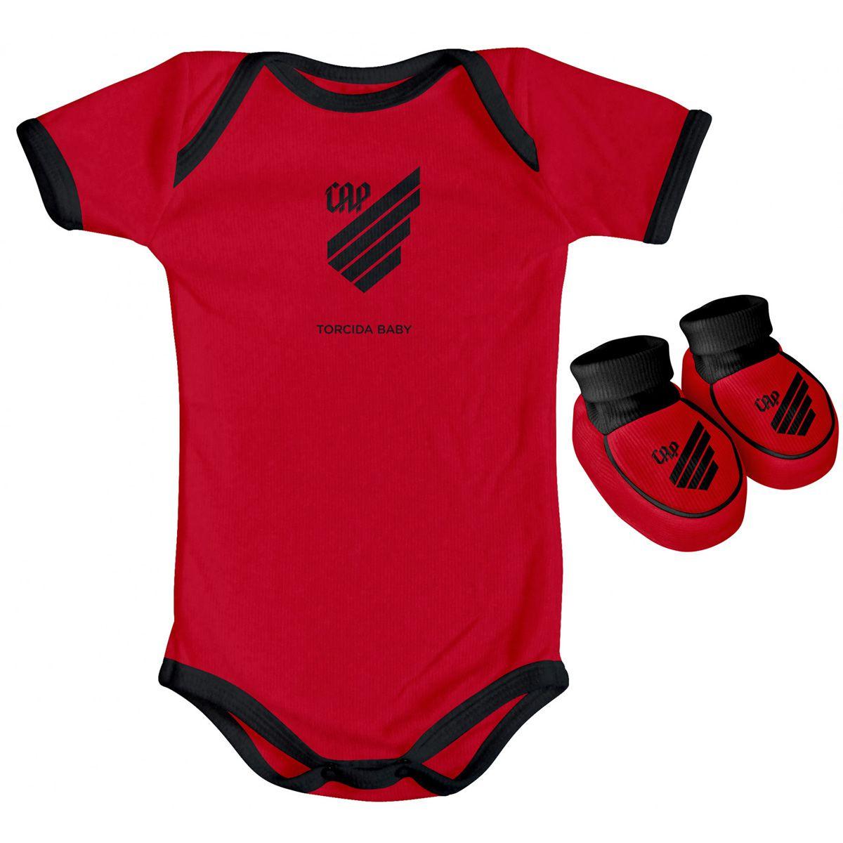 Kit Body + Pantufa para Bebê do Atlético Paranaense