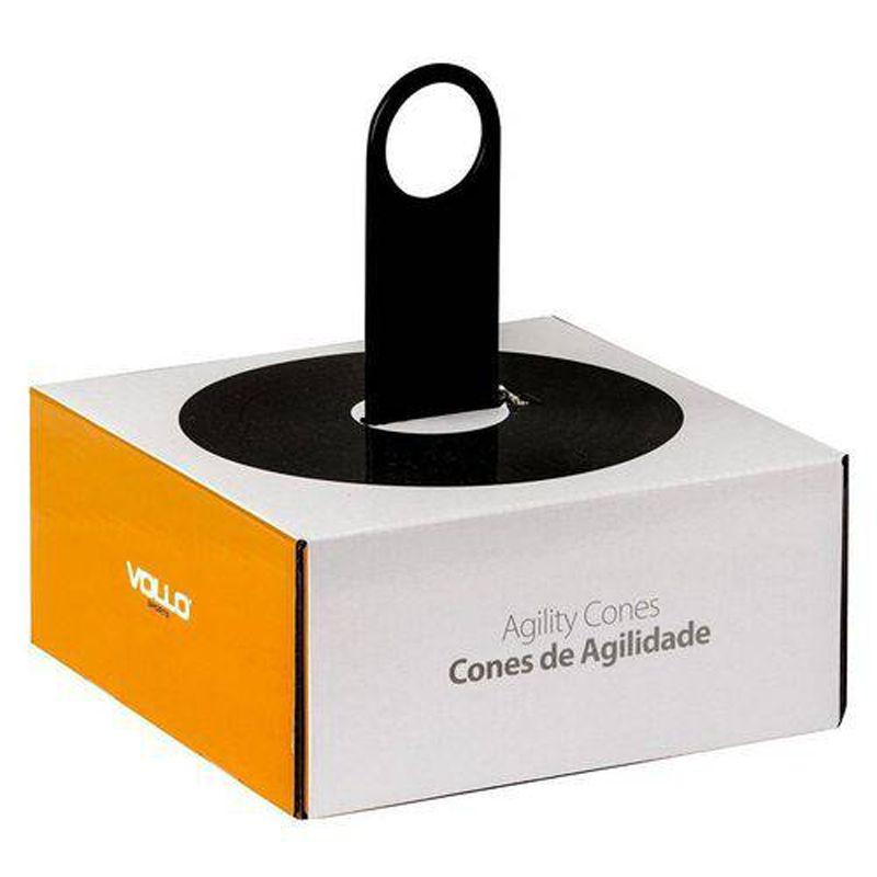 Kit c/20 Pratos Sinalização / Cones de Agilidade Vollo - VP1019