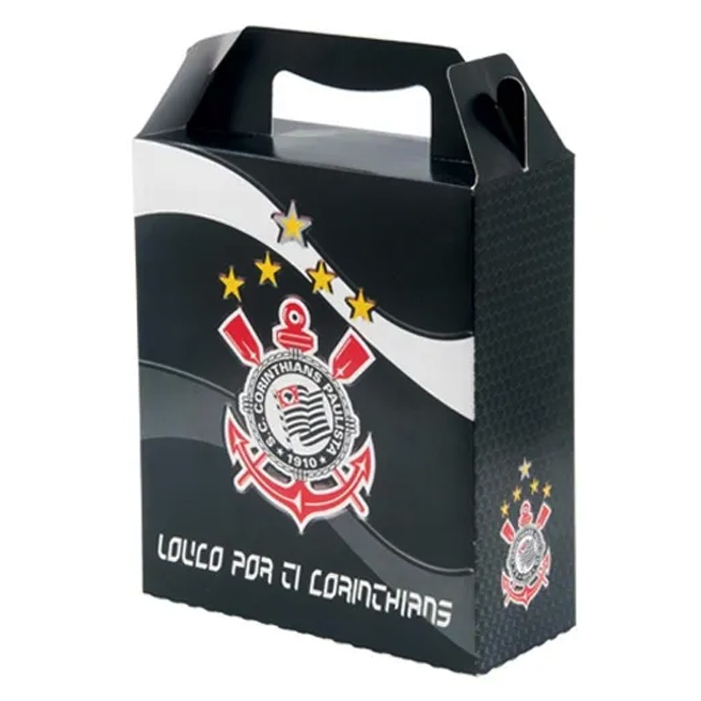 Kit c/32 Caixas Maleta do Corinthians para Presente
