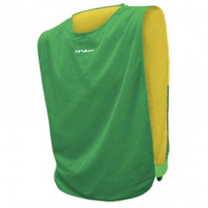 Kit c/8 Coletes Dupla-Face Poker Reversível Amarelo/Verde - 04310