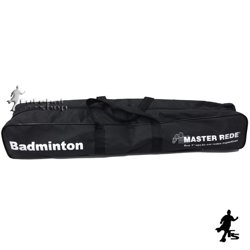 Kit Mini Badminton Master Rede (Rede + Petecas + Mastros)