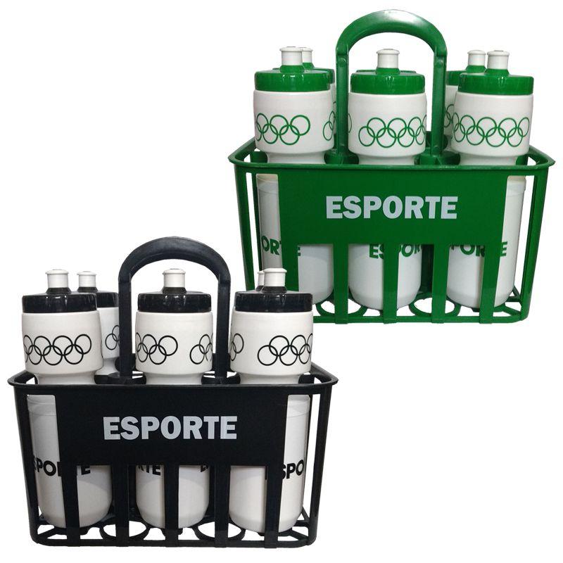 b9eddcdd4c Kit Squeeze c  Cesta Porta Garrafas Esporte - FUTEBOL SHOP ...
