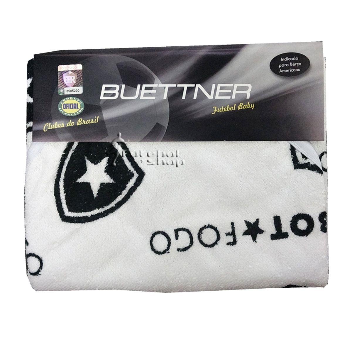 Kit Toalha p/ Bebê do Botafogo c/ Capuz + Fronha de Berço Buettner