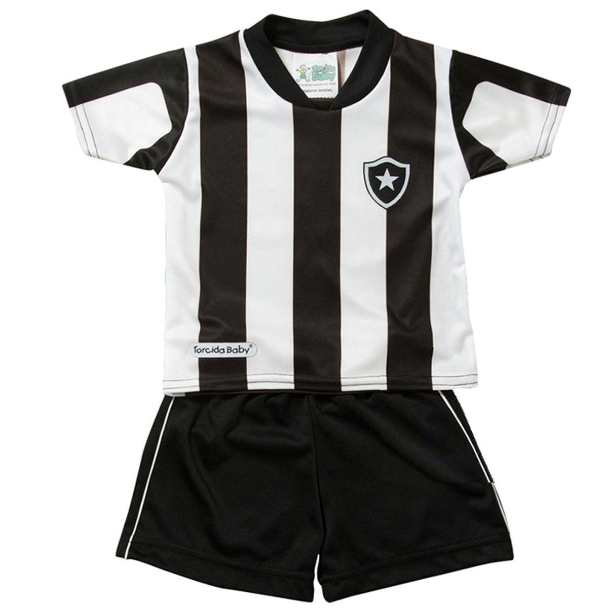 Kit Uniforme Bebê do Botafogo Torcida Baby - 015S