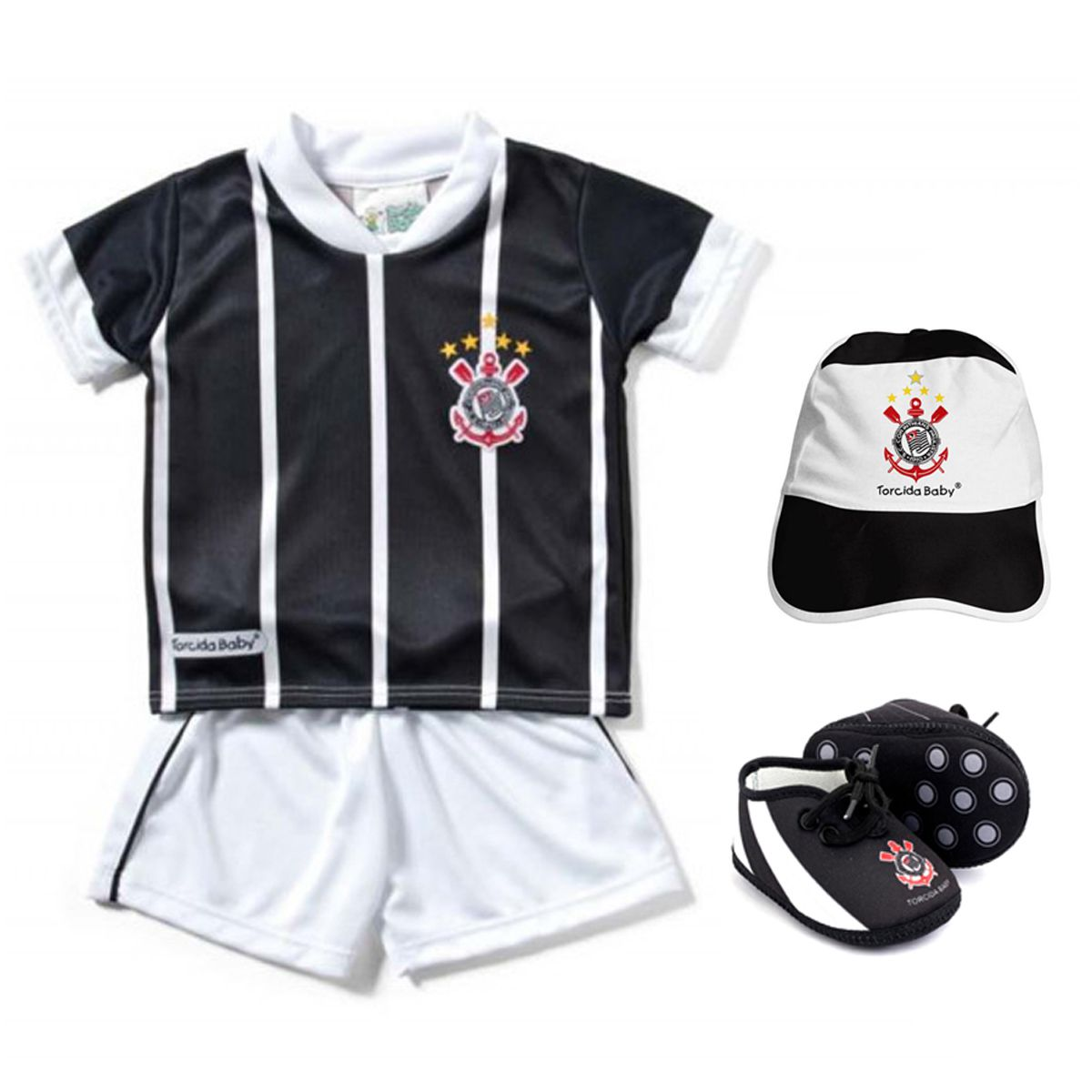 Kit Uniforme Bebê do Corinthians Torcida Baby - 015s