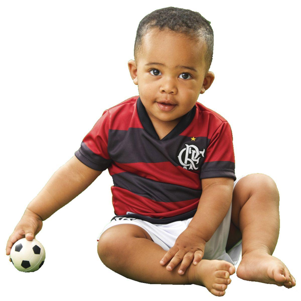 Kit Uniforme Bebê do Flamengo Torcida Baby - 015s