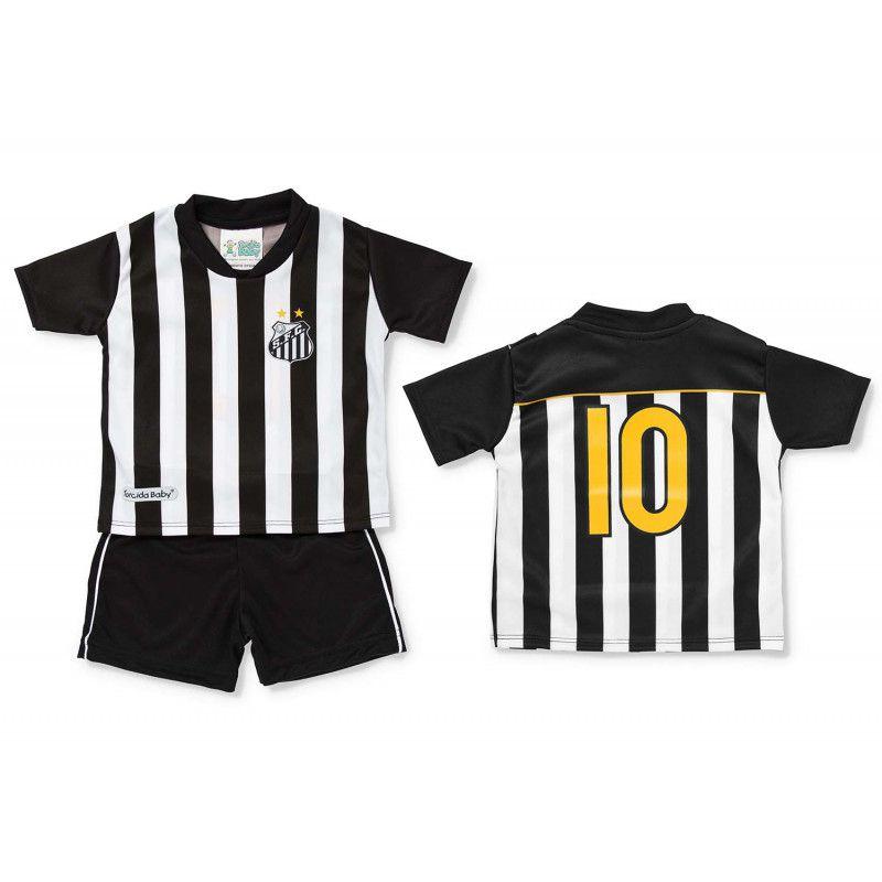Kit Uniforme Bebê do Santos Torcida Baby - 015s